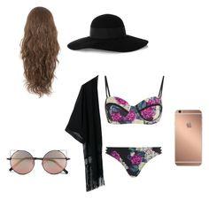 """Last day at beach"" by joycereina ❤ liked on Polyvore featuring MINKPINK, Eugenia Kim, Mura and Linda Farrow"