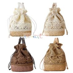 bolsa de franja fringe Crochet shoulder bags woven rattan straw bag Bucket backpack beach summer hollow out  bag 2014 New-in Casual Daypacks from Luggage & Bags on Aliexpress.com | Alibaba Group