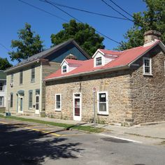 a side street in Perth, Ontario. Perth, Day Trips, Ontario, Garage Doors, Canada, Cabin, Journal, Mansions, Street