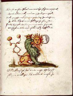 Národní knihovna České republiky [National Library of the Czech Republic], XVII.E.77, f. 177r. Jaroš Griemiller z Třebska. Rosarium philosophorum (1578)