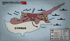 "The invasion of Cyprus by Turkey occurred on July 20, 1974, five days after the coup. Northern Cyprus remains occupied by the Turkish Army, despite the constitution and presidency having been restored. To Turks and Turkish Cypriots it is known as a ""peace operation"", designed to protect the Turkish Cypriot community.Unsupported, Sampson resigned on July 23, and the presidency passed to the Speaker of the House of Representatives, Glafkos Klerides. Makarios remained in London for five months;"