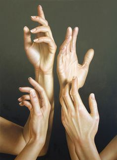 oil painting by Omar Ortiz ................... I wanna do a hand painting but doing something with them