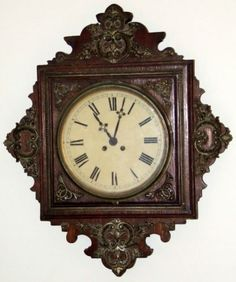 Antique-Working-19th-C-Japy-Freres-Victorian-French-Oak-Regulator-Wall-Clock