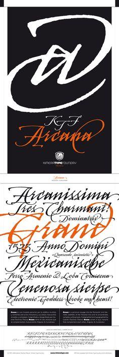 KTF Arcana typeface by Gabriel Martínez Meave, via Behance