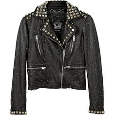 Diesel Sedar Studded Leather Biker Jacket (4.686.275 IDR) ❤ liked on Polyvore featuring outerwear, jackets, black, black motorcycle jacket, asymmetrical jacket, moto jacket, leather motorcycle jacket and genuine leather jacket