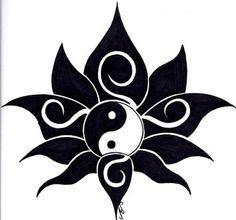 Explore best tribaldesign art on DeviantArt - Tribal Lotus Tattoo Design by Nikolai-Bartolf Informations About Explore best tribaldesign art on De - Black Lotus Tattoo, Lotus Tattoo Design, Tribal Lotus Tattoo, Compass Tattoo, Tattoo Designs, Yin Yang Tattoos, Sun Tattoos, Body Art Tattoos, Tattoo Sun