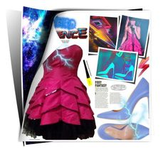 """Weird Science"" by hellamela ❤ liked on Polyvore featuring Betsey Johnson, Marco Barbabella, Rihanna, cocktaildress, BetseyJohnson and cosmicconnection"