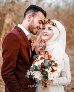 Hijab Wedding Islamic Wedding Dresses for Brides Romantic Couples Photography, Wedding Couple Poses Photography, Vintage Wedding Photography, Wedding Poses, Wedding Photoshoot, Wedding Couples, Muslimah Wedding Dress, Muslim Wedding Dresses, Wedding Hijab Styles
