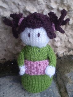 knitted doll by elgee