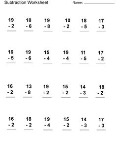 Looking for a Printable Subtraction Worksheets For First Grade. We have Printable Subtraction Worksheets For First Grade and the other about Benderos Printable Math it free. Addition Worksheets First Grade, Addition And Subtraction Worksheets, 2nd Grade Math Worksheets, 1st Grade Math, Addition Activities, Math Workbook, Grade 2, Free Printable Math Worksheets, Kids Worksheets