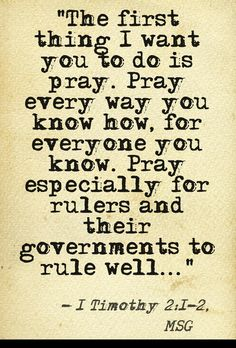 And now is the time to pray more than ever...our country is going to need it....God help us...