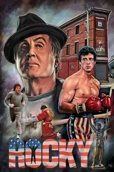 Rocky The Movie, Rocky Balboa Movie, Rocky Balboa Poster, Rocky Poster, Rocky Film, Best Movie Posters, Movie Poster Art, Rocky Series, Stallone Rocky