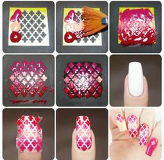 How to create the perfect Moroccan gradient manicure using our Moroccan Nail Stencils found at snailvinyls.com