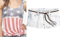 Flag fun with an @Urban Outfitters tank and light watch shorts from Delia's are the perf combo for the Fourth of July
