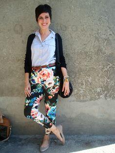 como usar calça floral | hoje vou assim off #pants #floralpants #H&M