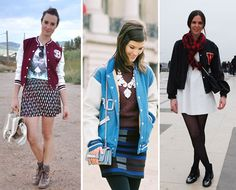 Jaqueta Varsity e Vestidos