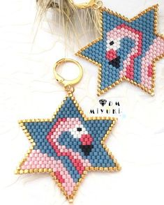 beaded earrings ℓαмιηgσ earrings 💟✨ Design✂️ & Photo📸 ➡️Dm miyuki - - - - - - - - - - - - - - - - - - - - - - - - - - - For information please contact. Hama Beads Patterns, Jewelry Patterns, Beading Patterns, Seed Bead Jewelry, Seed Bead Earrings, Beaded Jewelry, Beaded Earrings, Earrings Handmade, Handmade Jewelry