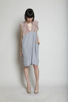 Totokaelo - Boessert Schorn - Knit Yoke Dress - Grey