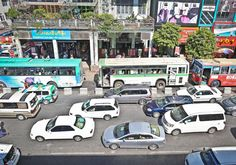 Officials are promising a new and improved bus company to beat traffic jams. Photo: Yu Yu / The Myanmar Times