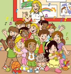 kleuterklas Back 2 School, School Days, Art School, Daily Schedule Preschool, Counseling Office, Character Creation, Nursery Art, Clipart, Glass Art