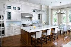 Image result for white kitchens with islands