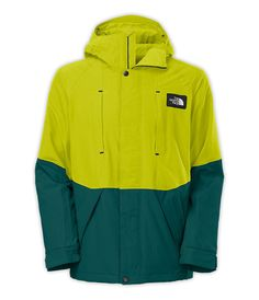 North Face Men's Turn It Up Snowboard Jacket in Depth Green