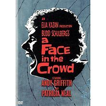 A Face in the Crowd Directed by Elia Kazan Starring Andy Griffith and Patricia Neal, with Anthony Franciosa, Walter Matthau, Lee Remick and Rod Brasfield. Elia Kazan, Love Movie, I Movie, Movie Blog, Lee Remick, Patricia Neal, Walter Matthau, Country Western Singers, O Drama