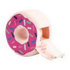 Donut Tape Dispenser with Frosting Stickers Pink Homework station Justice School Supplies, Middle School Supplies, Cute Office Supplies, College School Supplies, Desk Supplies, Interior Paint Colors For Living Room, Pink Desk, Donut Shape, Homework Station