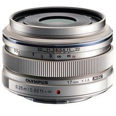 Olympus M.ZUIKO ED 17mm f/1.8 Lens Silver @ 27 % Off. Order Now!!!!!