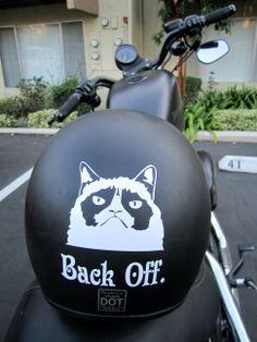 Ha!  On the helmet or a fender sticker!