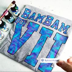 """《♡》《BamBam Got7》《♡》 with fabric paint ✏ _ <○> online on YouTube : """" tubaemin """" <●> what should I draw next?  Jungkook? ================================== #bambam #got7 #bangtanboys #mark #jr #jb #artist #artwork #YOUTUBE #boy #happy #picoftheday #jungkook #swag #selfie #drawing_by_i_l #nawden #miiart #art_spotlight #arts_gallery #artsofdrawingg #featuring_art _______________________________________"""