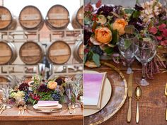 Plum and Gold Wedding Inspiration via Ruffled. Love the richness of this shoot!