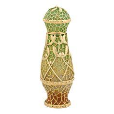 Art Nouveau Gold and Plique-a-Jour Enamel Perfume Bottle - Objets D'Art, Since 1912 | M.S. Rau Antiques