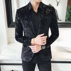 Tiger Had Pattern Art Men Black Velvet Blazer – FanFreakz