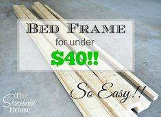 Simple DIY Palled Bed: I have a list of DIY bed frames for your .Simple DIY Palled Bed: I presented a list of DIY bed frames to make your bedroom fabulous.