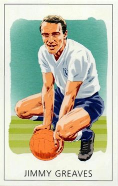 Jimmy Greaves of Tottenham Hotspur in Jimmy Greaves, Spurs Fans, Tottenham Hotspur Fc, North London, Soccer Players, Football, Baseball Cards, 1960s, Sports