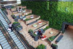 Hollywood architecture firm, redesigns LA's Del Amo Fashion Center, applying a museum-like regard and treatment of space and definition Design D'espace Public, Mall Design, Plaza Design, A As Architecture, Landscape Architecture Design, Enterprise Architecture, Architecture Diagrams, Architecture Portfolio, Futuristic Architecture