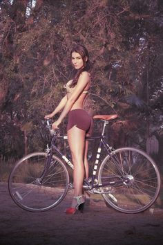 Heels and bikes are like peanut butter and oysters.