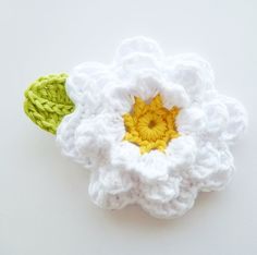 Items similar to Large Flower Applique with Leaf on Etsy