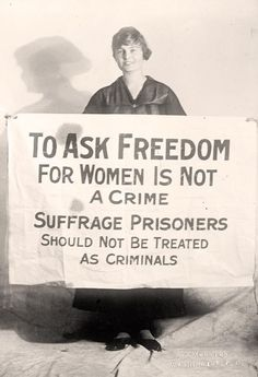 National Womens Party member Lucy Branham. Born in Virginia, USA.