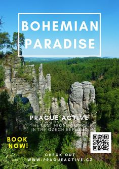 One day trip from Prague to Prachov rock city in Bohemian Paradise UNESCO Geopark. Best place to visit in Czech Republic. Hiking tour in Czech Republic Cool Places To Visit, Places To Go, Day Trips From Prague, 1 Day Trip, Hiking Tours, Travel Activities, Europe Travel Tips, Day Tours