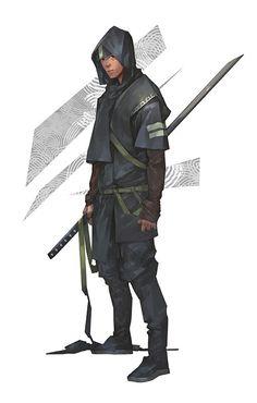 Ninja, Dae hoon Lee on ArtStation Fantasy Character Design, Character Creation, Character Design Inspiration, Game Character, Character Concept, Concept Art, Urban Samurai, Samurai Art, Arte Ninja