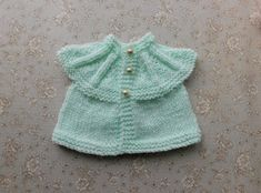 EVIE Baby or Baby Doll All-in-One Tops (marianna's lazy daisy days) All Free Knitting, Baby Cardigan Knitting Pattern Free, Knitting Stiches, Baby Knitting Patterns, Baby Patterns, American Doll Clothes, Premature Baby, Baby Sweaters, Evie