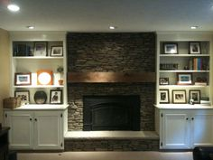 Fireplace With Built In Bookshelves | From Erin's renovation - new fireplace with built in bookcases