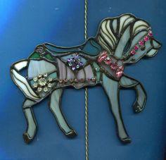 Stained Glass Carousel Suncatcher PTC 023 by windshop on Etsy, $35.00