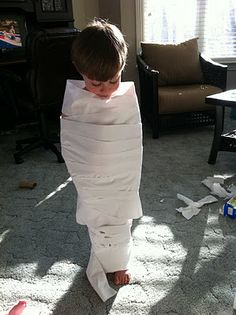 fun with a roll of toilet paper.  wrap it around us and then try to escape