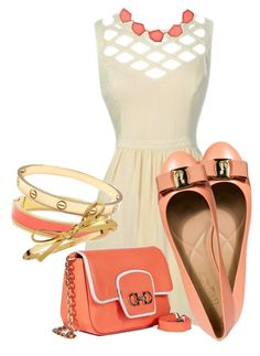 """""""lily boutique"""" by carciosef ❤ liked on Polyvore featuring Salvatore Ferragamo, Accessorize and Kate Spade"""