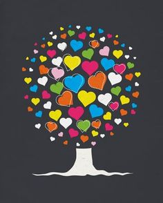 """""""Love Tree"""" wall art for kids by WP House for Oopsy daisy, Fine Art for Kids #oopsydaisy #oopsydaisyart"""