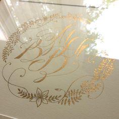 Calligraphy by Anna Liepina Семейная монограмма