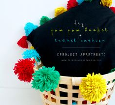 DIY Pom Pom Basket + Tassel Cushion | The Desi Wonder Woman